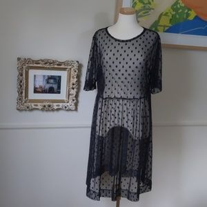 Agnes and Dora black mesh dress